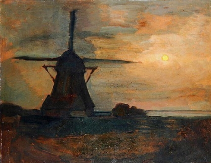 piet-mondrian-oostzijdse-mill-in-moonlight