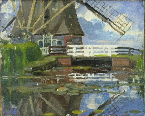 Truncated_View_of_the_Broekzijdse_Molen_on_the_Gein_by_Piet_Mondrian