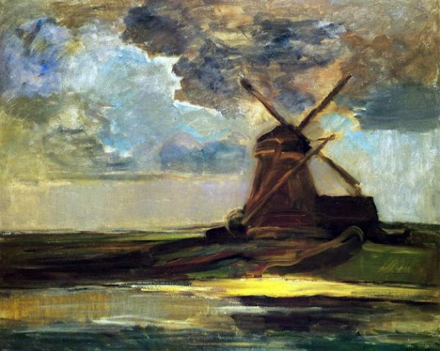 Piet Mondrian - Windmill in the Gein c1906-07 - (MeisterDrucke-600005)